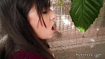 Anal sex for brunette amateur outdoor preview image