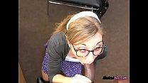 Freaky Teen With Glasses Emma Haize Sucks A BBC