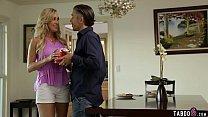 Busty mature wife Brandi Love gets thong stuffed inside thumbnail