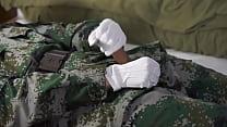 Chinese soldier handjob