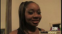 Ebony girl gang banged and covered in cum 2