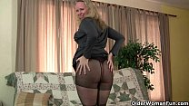 Milfs Sable and Catherine get juiced up in new pantyhose preview image