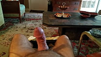 Jacking up another load out of my thick big cock 2