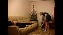 Young housemaid fucked by older guy preview image