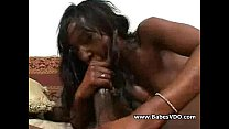 Black pussy and black cock Hardcore video