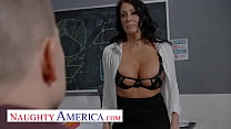 Naughty America - Reagan Foxx teaches her student a special lesson in classroom