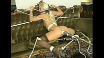 Blonde gets her thighs and ass spanked preview image