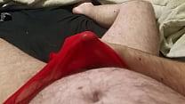 Cumming in my wifes panties again