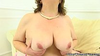 British granny Susan still knows how to pleasure her wet cunny thumbnail