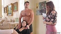Hot step sisters had threesome bdsm