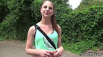 German Scout - Pia (18) bei Street Casting Anal gefickt