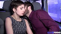 Alice, young slut fucked by two guys in a car