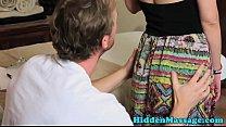 Massage loving babe tastes cum after bj thumbnail