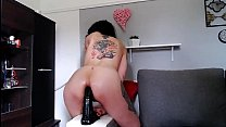 Lucy Ravenblood horny for anal, horsecock dildo ride