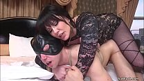 Huge tits MILF femdom pegging slave