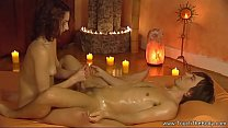 Enjoying The Relaxing Cock Massage From A Lovely Woman