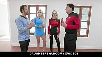 DaughterSwap - Cosplay Teens Deepthroat And Fuck Their Stepdads pornhub video