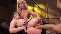 Brunette lesbian dom anal fucks hotties