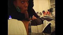 BLACK HOOKER COMES BY TO GET A HUGH MOUTH FULL OF CUM preview image