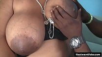 Black stud vigorous fucks a BBW ebony in her juicy pussy