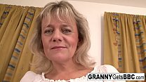 Blonde granny wants her pussy stuffed with blac...