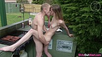 Naughty skinny amateur chick fucked on a barbecue Vorschaubild