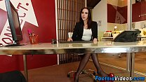 7034 Busty foot slut rides rod preview