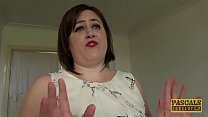 Chubby UK submissive disciplined in rough sex game's Thumb