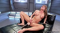 Big ass Milf takes fucking machine anal