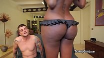 Big boobs ebony tranny fucks good