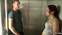 18jr Teeny Natalie fickt mit Fremden im Fahrstu... Thumbnail