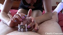 Permenantly locking you in chastity