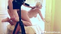 Horny stepmom makes a porno with her stepson