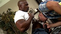 Bareback interracial sex in the office - Adrian Cortez and Max Konnor