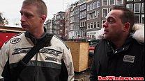 Amsterdam prostitute gets cumshowered image