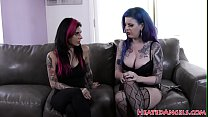 Busty goth girl in stockings fucked hard