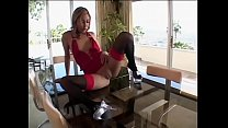 Furniture mounters came to adjust cabinetry for young Mexican nympho Kat who turned to be real sexploitress