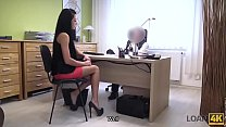 LOAN4K. Long-haired brunette Inga Devil comes to a small loan company pornhub video