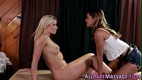 Beautiful teen massaged