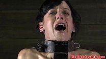 Ballgagged sub painfully punished with nt
