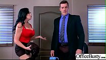 Slut Girl (Sybil Stallone) With Round Huge Tits Get Nailed In Office vid-28