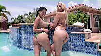 BANGBROS - Big Booty Pornstars Diamond Kitty and Paris Sweet Get Fucked By Brick Danger