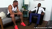 Hot hunk Ricky gives his friend Pheonix a good foot licking