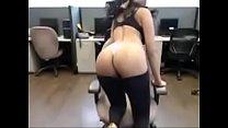 Call center girl enjoying during lunch break