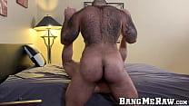 Muscular hairy bear Atlas Grant barebacks Gabriel Divo