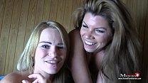 Amanda und Aira - Bi-Spiele mit Sperma in der Sauna - Trailer