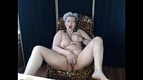 Mature dirty slut pounds her cunt and ass with huge dildos in private show! How nice to realize that this whore is my wife!