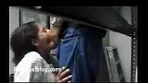 Indian Girl Belowjob  in  College Library