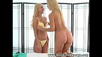 Blonde massage fetish babe love licking pussy