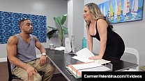 Hot Tutor Carmen Valentina Gets Big Black Cock Fantasy Fuck!